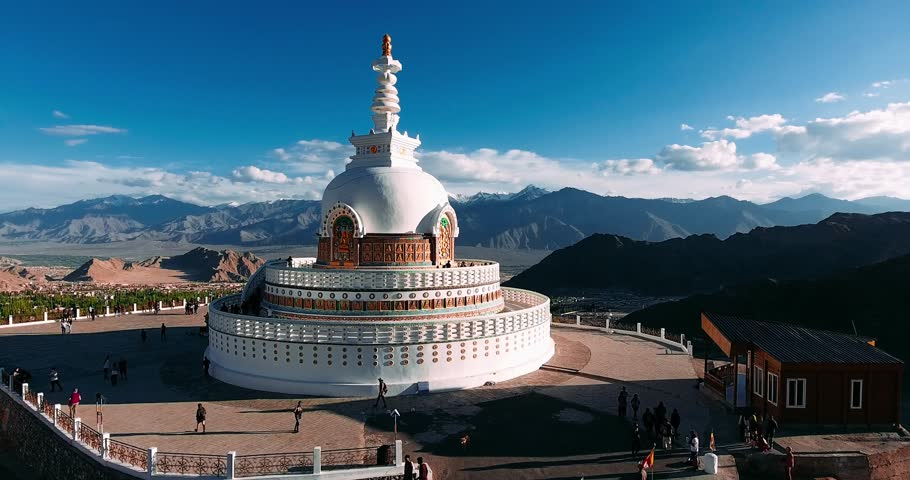 Shanti Stupa in Leh, Jammu & Kashmir, India : A Sacred Pilgrim Place for  Buddhists in the Himalayas - The Cultural Heritage of India