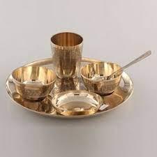 Brass Dinner Set in Moradabad, पीतल का डिनर सेट, मुरादाबाद, Uttar Pradesh |  Brass Dinner Set Price in Moradabad